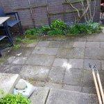 Onkruid verwijderen achtertuin